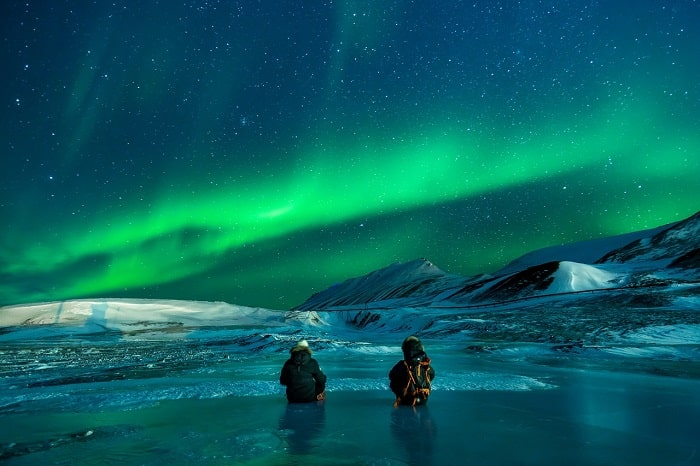Aurora Boreala observata la Polul Nord