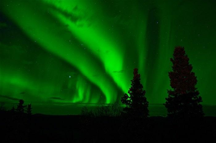 Aurora Boreala verde