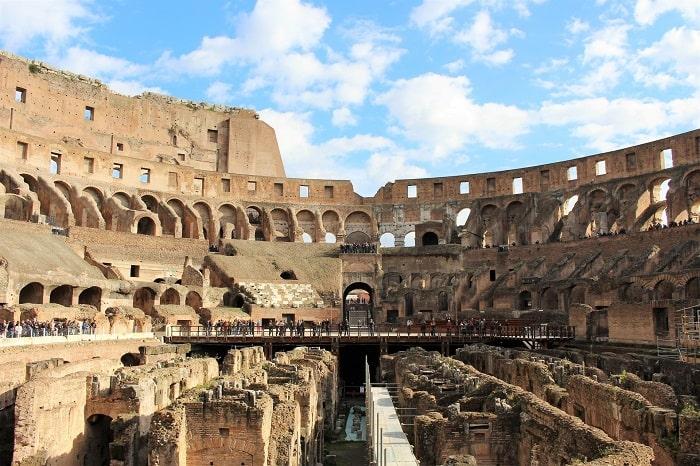 Interiorul Colosseumului in ziele noastre