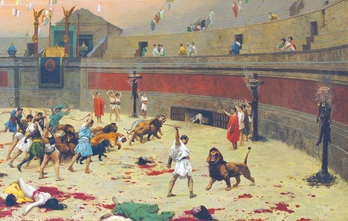 Gladiatori in lupta cu animalele (Tablou de Jean Leon Gerome)