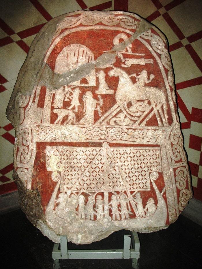 Piatră din Gotland pictată
