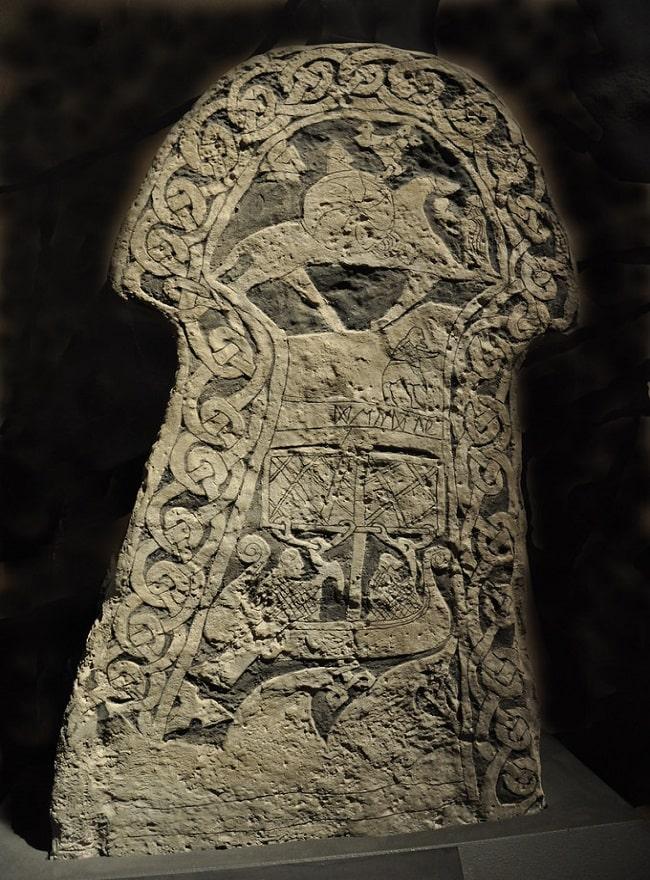 Piatră de Gotland sculptată
