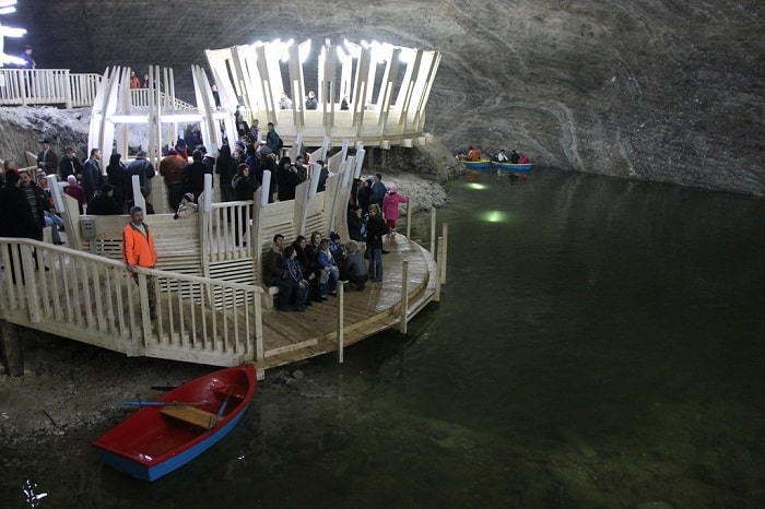 Ponton pe lacul din mina  Terezia