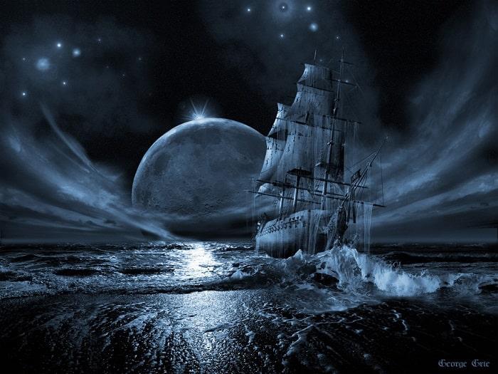 vas fantoma in noapte