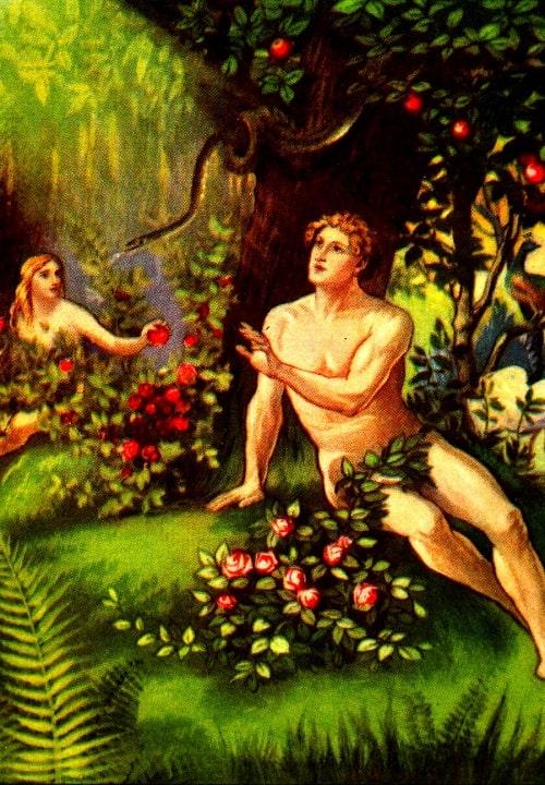 Adam si Eva cazand in pacat