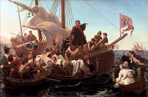 Cristofor Columb si echipajul de pe Santa Maria