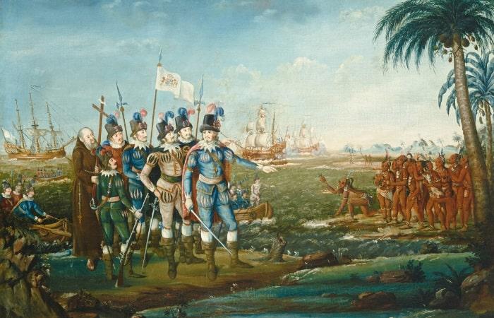Cristofor Columb si indigenii