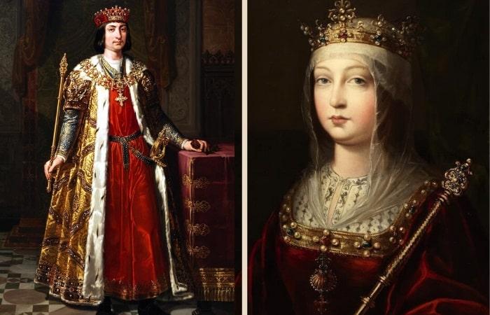 Ferdinand al II-lea de Aragon si  Isabella I a Castilei