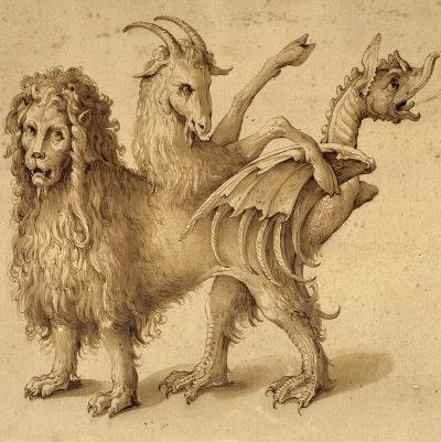 Himera - o creatura mitologica ce simbolizeaza grotescul