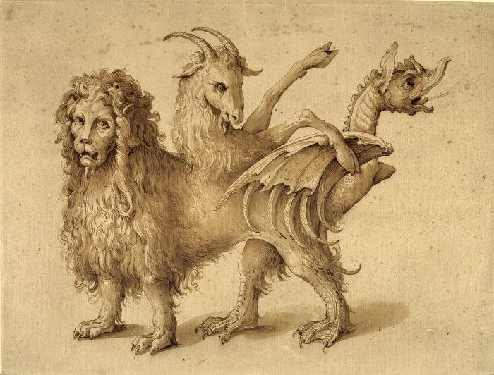 Himera - tablou de Jacopo Ligozzi  (1590-1610)
