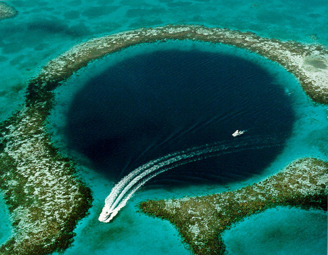 Marea gaura albastra (Lighthouse Reef - Belize)
