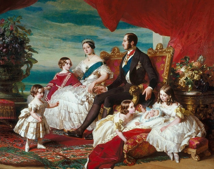 Regina Victoria si familia acesteia (tablou de Franz Xaver-Winterhalter)