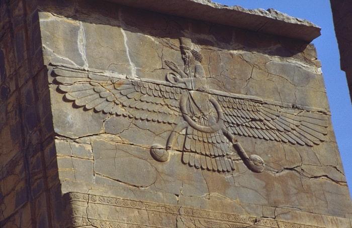 Basorelief Ahura Mazda