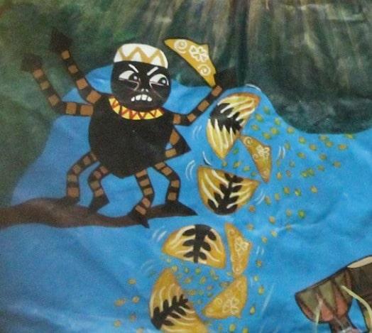 Zeitatea Anansi (pictura din Africa de Sud)