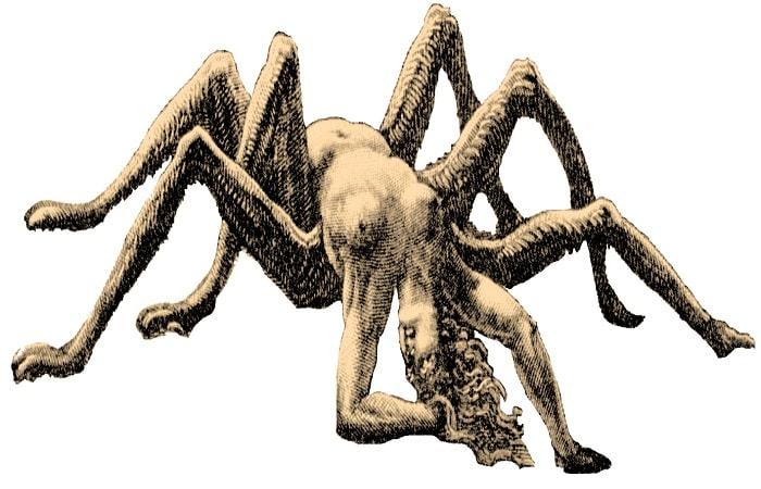 Infatisarea lui Arachne dupa transformare