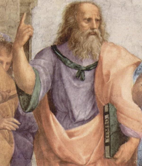 "Leonardo Da Vinci in tabloul  ""Școala din Atena"" (1510-11) de Rafael"