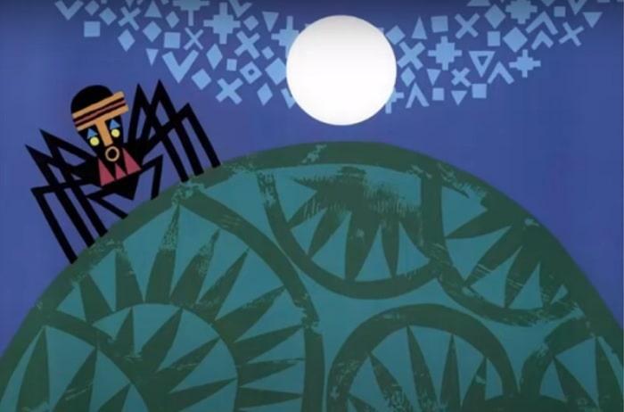 Pictură reprezentând paianjenul stăpân peste lume