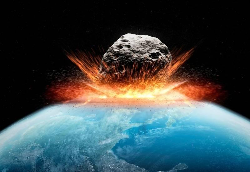 asteroid ciocnindu-se de Pamant