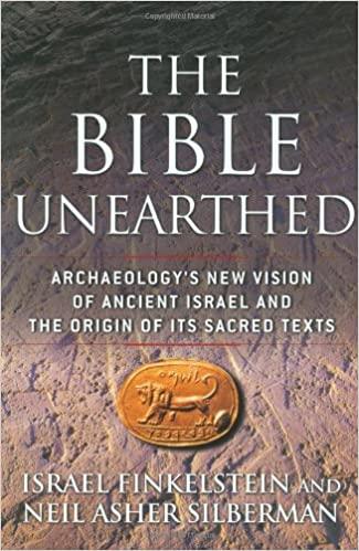 "Coperta cărții: ""Biblia dezgropată"" carte de Israel Finkelstein și Neil Asher Silberman"