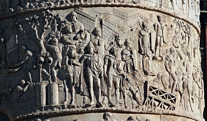 Sculptură de pe Columna lui Traian