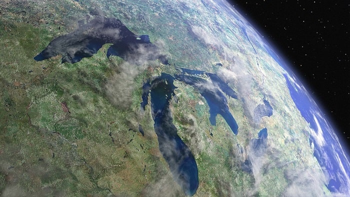 Marile Lacuri văzute din spațiu