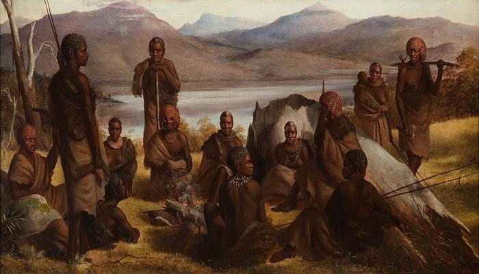 Nativi din Tasmania (Tablou)