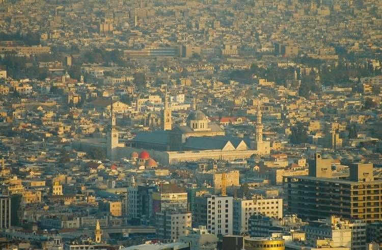 Marea Moschee din Damasc vazută de la înălțime