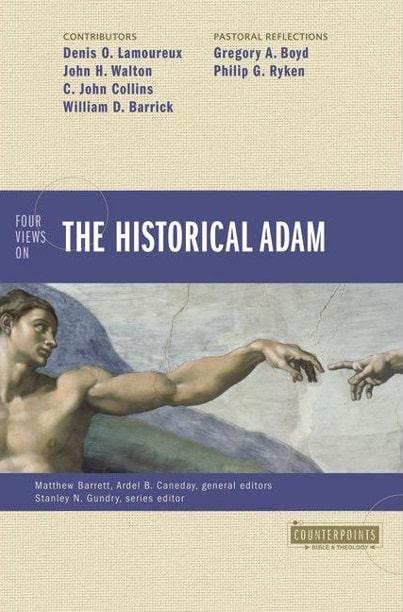 """Coperta cărții """"Patru puncte de vedere asupra personajului istoric Adam"""" de  Matthew Barrett"""