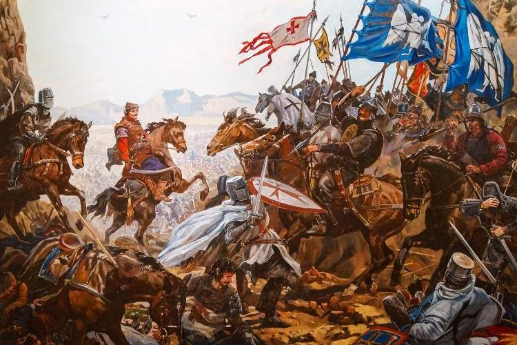 Bătălie între cruciați și musulmani