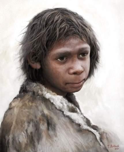 copil neanderthal - reconstructie