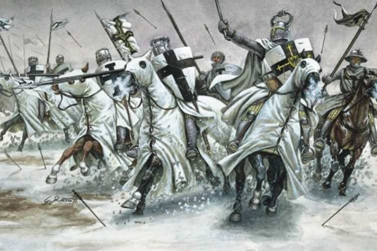 Cruciați armeni pornind la luptă