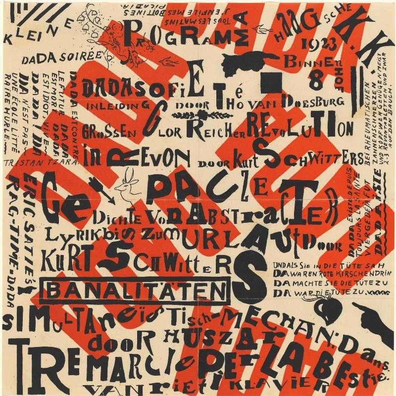 Design de litere întâlnite in dadaism