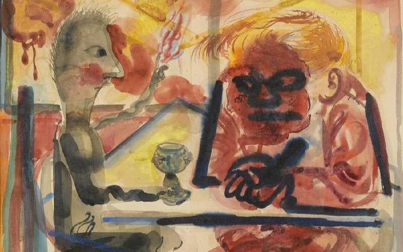 Pictură satirică a lui George Grosz
