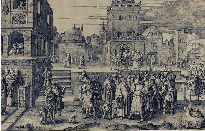Imagine reprezentativă a evului mediu - centrul unui orașel