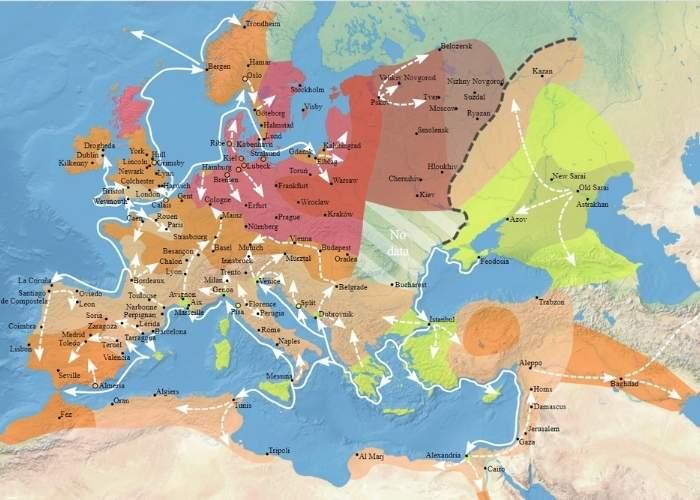 Harta de circulație a Morții Negre