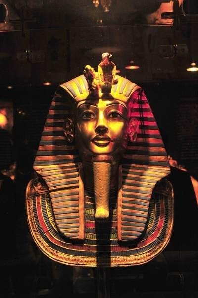 Mască decorativă din aur pentru faraon