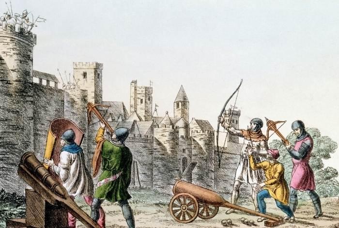 Imagine reprezentand Razboiul de 100 de ani dintre Franta si Anglia
