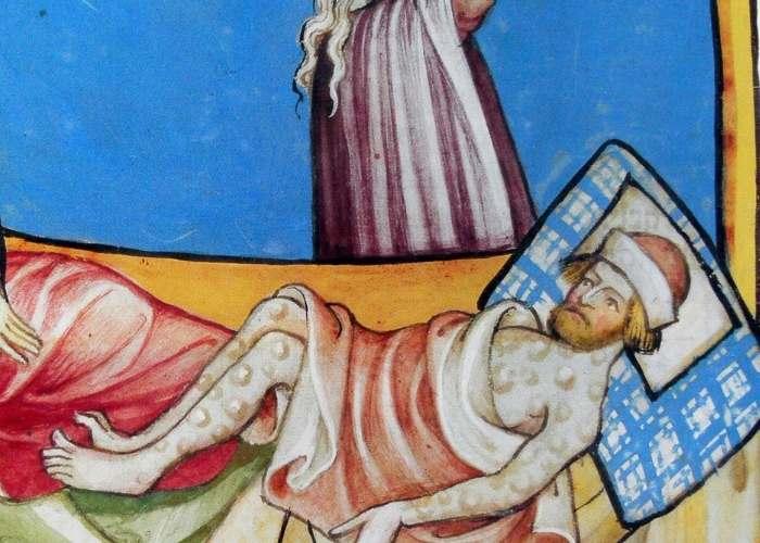 Tablou reprezentând un bolnav de Moartea Neagră
