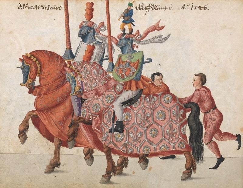 Tablou ce reprezintă un turnir din Evul Mediu