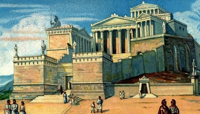 Grecia antica - in fata partenonului