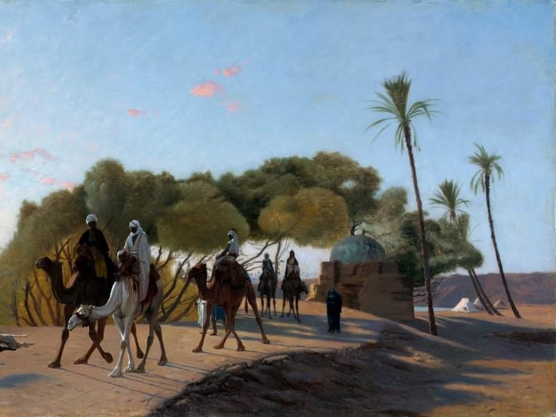 beduini in oaza