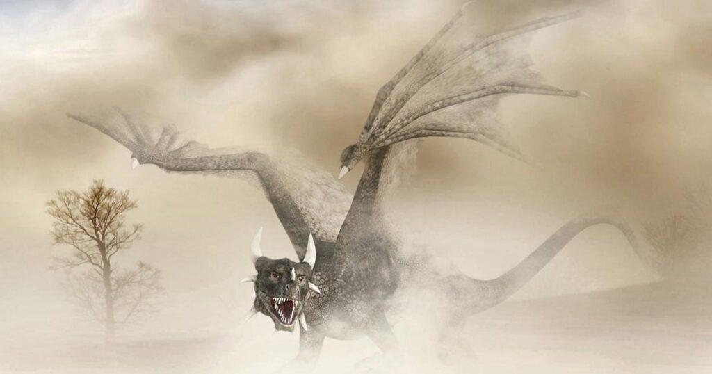 Dragonul celtic - se poate identifica dupa aripile de liliac