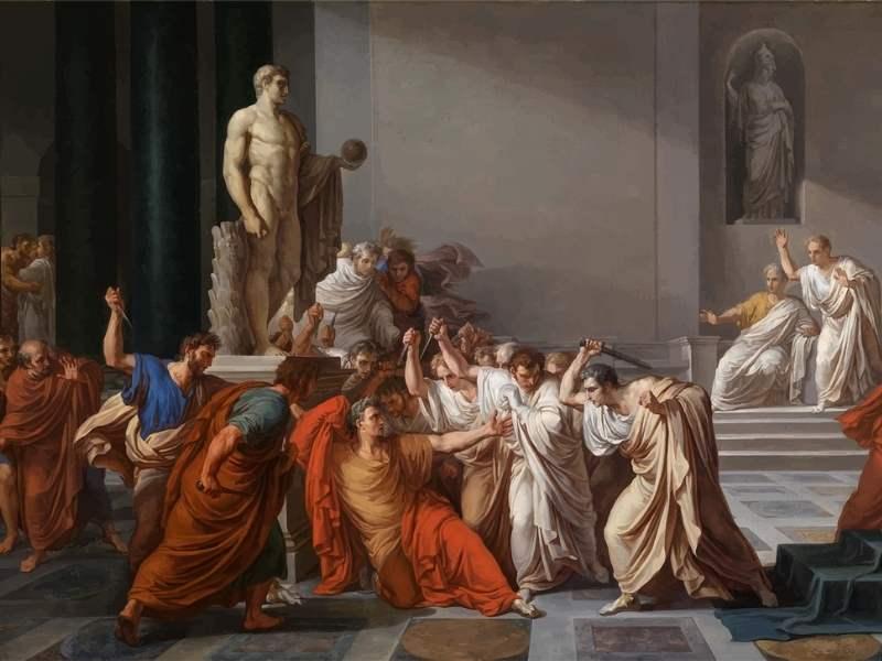 Tablou reprezentând uciderea lui Iulius Cezar