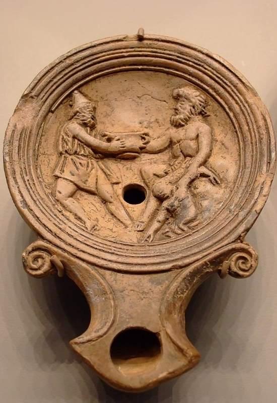 Lampă romană cu ulei