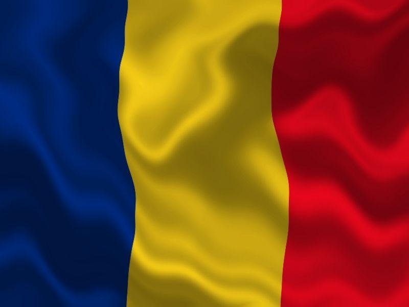 Steagul Romaniei - drapel- tricolorul - rosu, galben si albastru