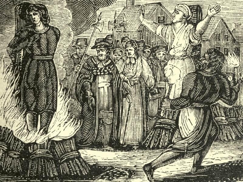 Vrajitoare arsă pe rug in Evul Mediu