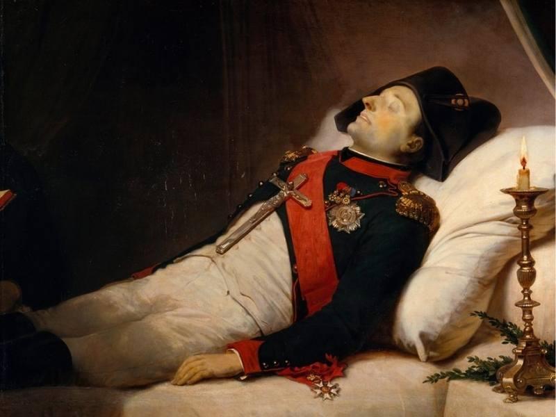 Tablou al imparatului Napoleon dupa deces