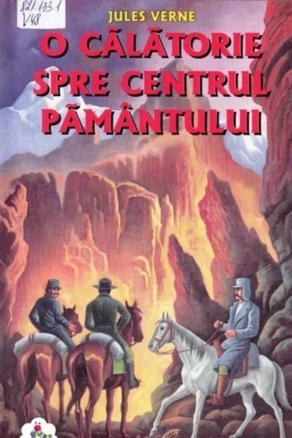 """Coperta cartii lui Jules Verne """"O călătorie spre centrul Pământului"""""""
