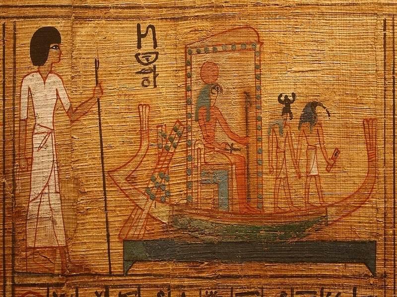 Faraonul pe barca celestă a zeului suprem Ra