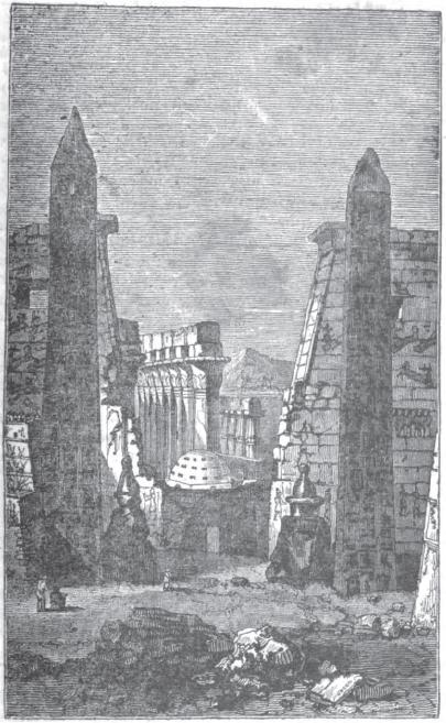Obeliscurile de la Luxor - desen dinainte de 1832